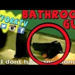 "AIMS GUN AT PEOPLE PRANK GONE WRONG!! (Social Experiment) ""BATHROOM PRANK"""
