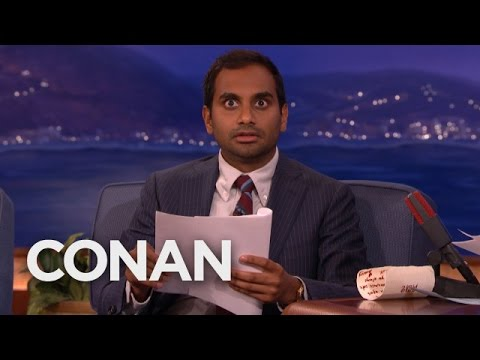 aziz ansari on dating conan Actor and comedian aziz ansari painted a bleak picture of singledom on conan not too long ago that we were reminded of the other evening after a tedious text message exchange on the plus side, it was hilarious, but what's sad is that any single young professional (yp) can relate.