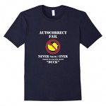"Men's AutoCorrect Fail – Never Have I Ever Meant to Say ""Duck"" 3XL Navy"