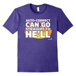 Mens Cell Phone Autocorrect Funny Humorous T-Shirt 3XL Purple